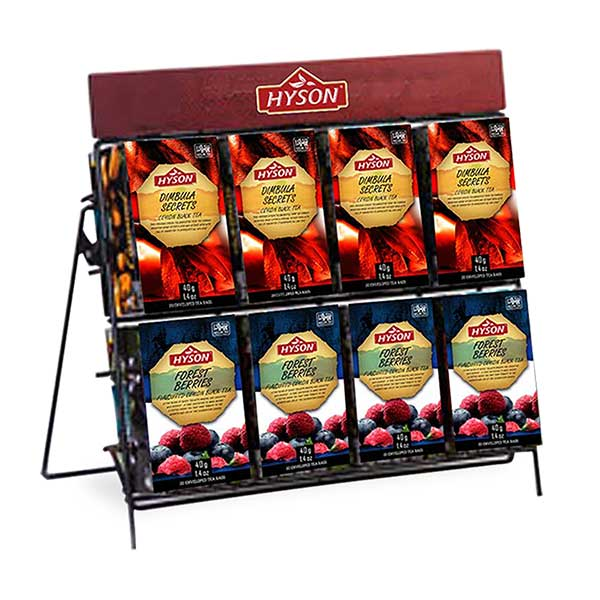 Teas are packaged in vibrantly colourful, innovative and attractive packs which are unique to our range of products.